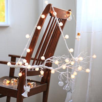 화이트나뭇가지+눈꽃전구가랜드set