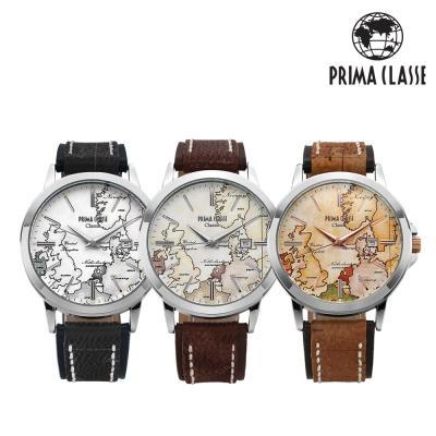 [프리마클라쎄] 남성 가죽 손목시계 PCL19022M