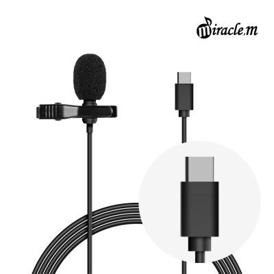 ASMR 녹음용 핀마이크 C타입 스마트폰 미라클엠 M31-C