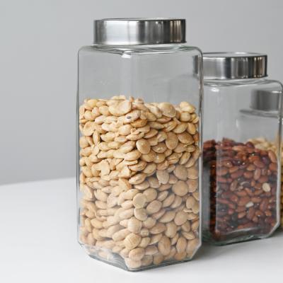 투명 다이스 밀폐 유리병 곡물병 1300ml