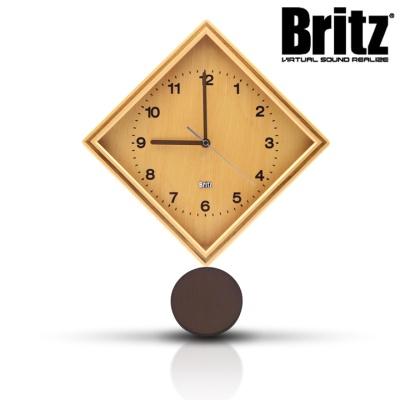 브리츠 27형 저소음 내츄럴우드 벽시계 BZ-C17P