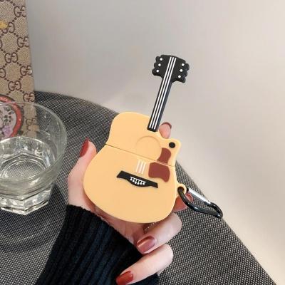 에어팟1 2 귀여운 악기 실리콘케이스 키링_통기타 457