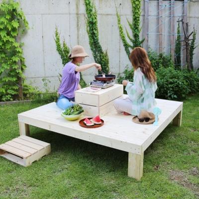 야외정자 정원벤치 평상마루 원목테이블 대형 2종