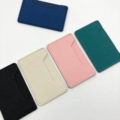 부착형 천연가죽 카드홀더 - 단품