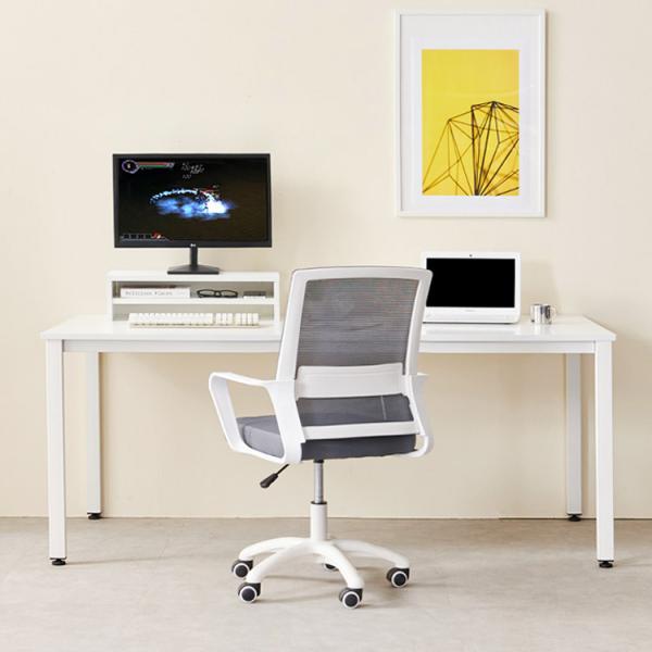 [e스마트] 2인용컴퓨터책상1660+모니터받침대증정