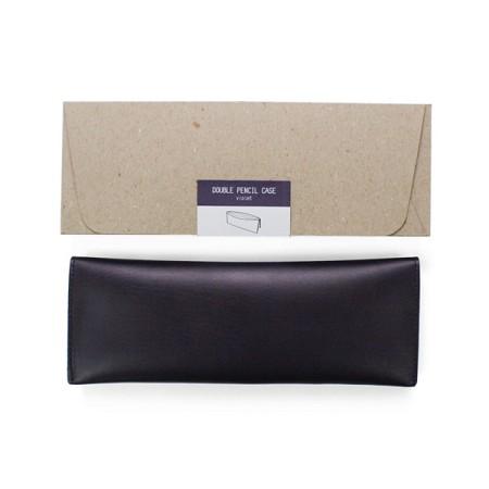 Double pencil case_violet