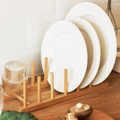 밤부 접시 그릇 수납 꽂이 거치대 정리대 (4칸)