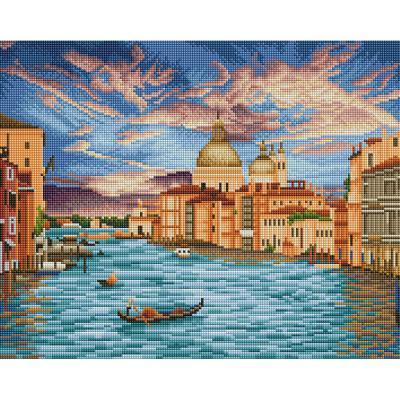 물의 도시 베니스 (캔버스형) 보석십자수 40x50