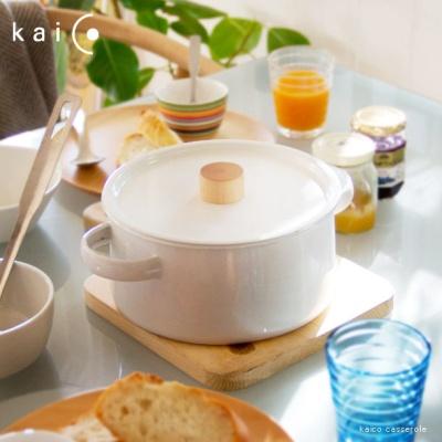 일본 kaico 카이코 법랑 양수냄비
