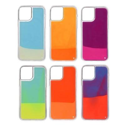 아이폰11 pro max/야광 네온샌드 아쿠아 글리터케이스