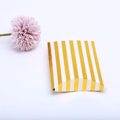 스트라이프 골드L 접이식 포장 선물 상자 케이스