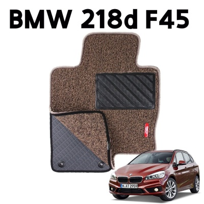 BMW 218d F45 이중 코일 차량 차 발 깔판 매트 Brown