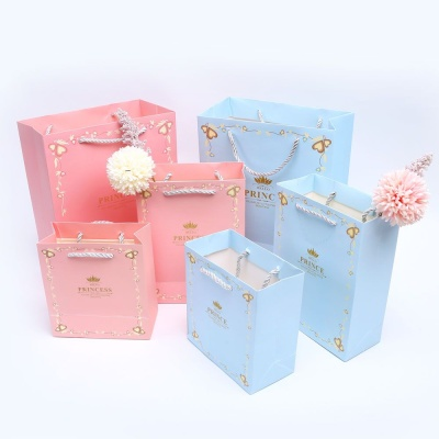 왕자와공주 블루M 종이 쇼핑백 선물백 손 가방