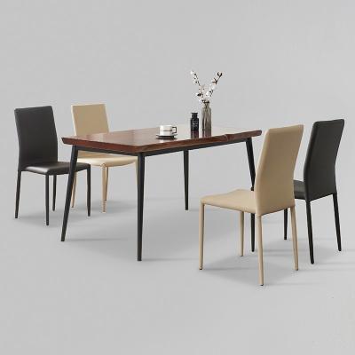가벤 원목 철제 식탁 세트A 1400 + 의자 4개포함 (착