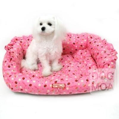 퍼피하우스 강아지 방석 침대 쿠션 매트 하우스 딸기