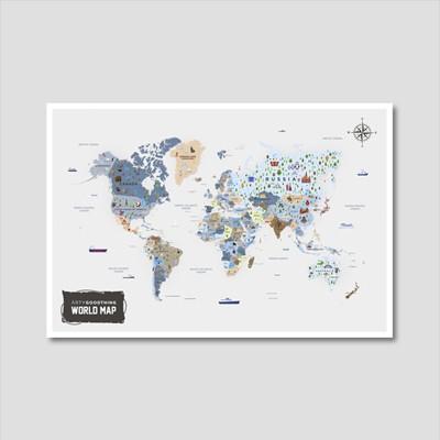 세계지도 아트프린트 에디션 no. 0005