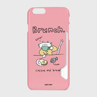 Brunch cat-pink(카드수납케이스)