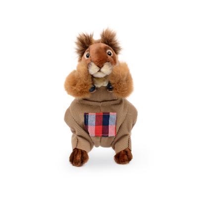 7524 옷입은 다람쥐인형(갈색) 25cm.L