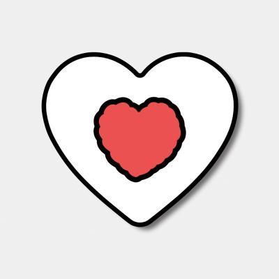 [하트톡♥] red heart fluffy