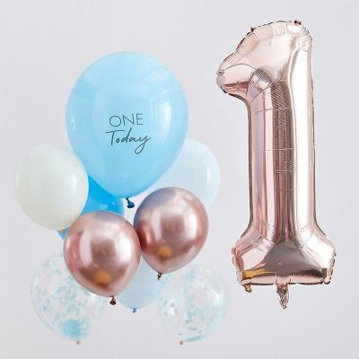 [빛나파티]블루 첫번째 생일 돌잔치 풍선 10개 세트