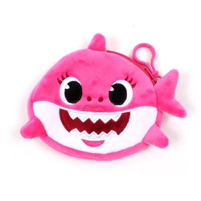 상어가족 동전지갑 핑크