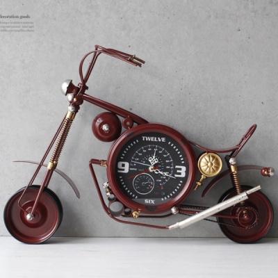[2HOT] 빈티지 오토바이 시계 (3703)