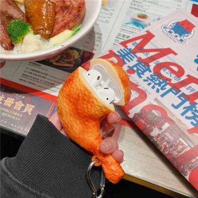 에어팟 프로/3/2/1 특이한 닭다리 실리콘 충전 케이스