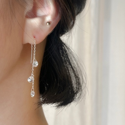[Silver 925] 비시아 크리스탈 귀걸이