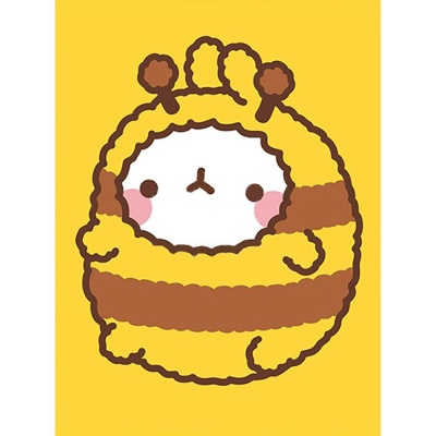 몰랑 꿀벌옷 (샤이닝) 보석십자수 액자세트 15x20
