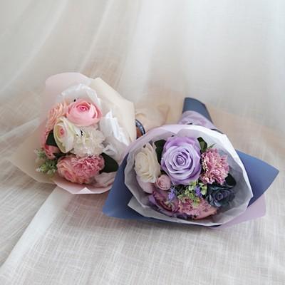 작약 장미 라벤더 꽃다발