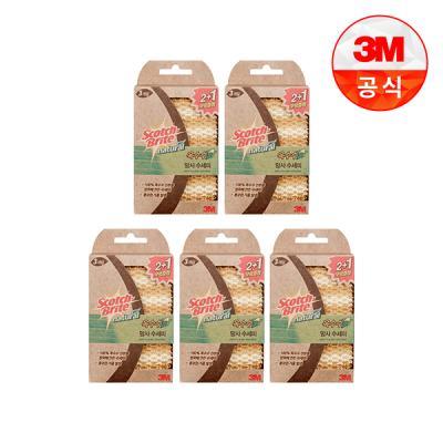 [3M]내츄럴 옥수수 망사수세미 2+1입(일반세척용) 5개세트