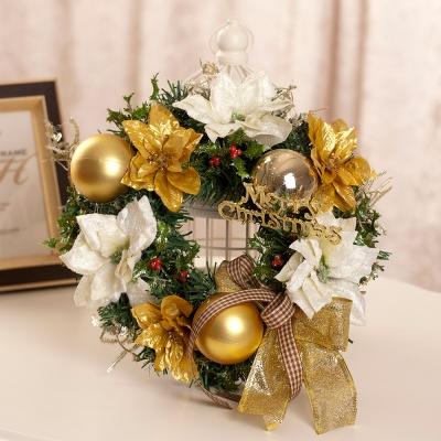 FN7729 골드&화이트 크리스마스리스