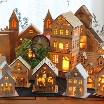크리스마스 장식 LED 미니어처 우드조명