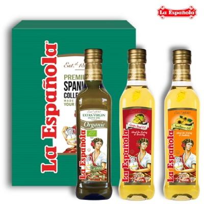 [에스파놀라]올리브유+포도씨유+해바라기유 선물세트