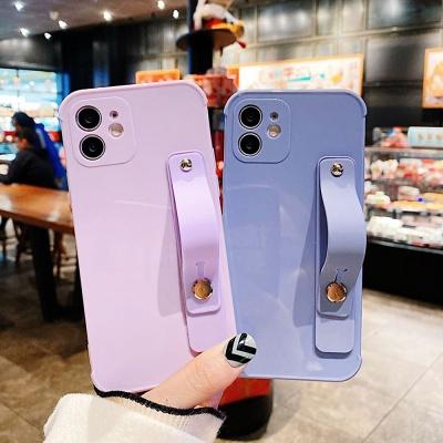 아이폰11 pro max 파스텔 스트랩 카메라보호 케이스