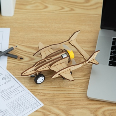 [전투기] DIY 어린이 코딩 조립 나무 장난감