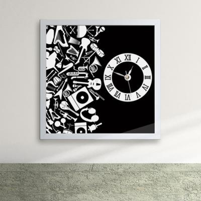 cy400-블랙 하모니 액자벽시계_디자인액자시계