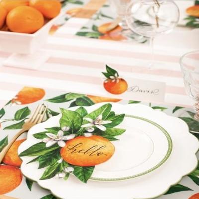 오렌지 종이 테이블 악센트 Table Accent