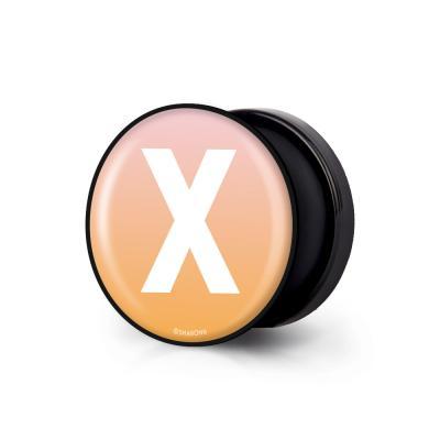 샤론6 블랙 원형 그립톡 이니셜 X