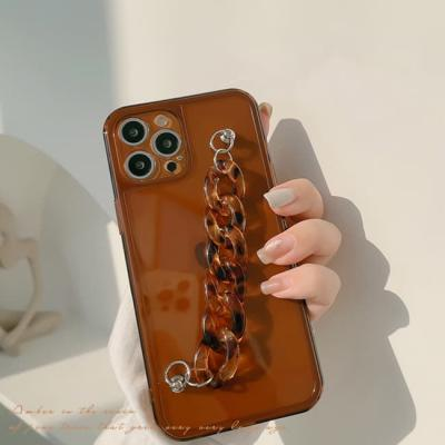 아이폰 케이스 12 11 프로 맥스 미니 X 8 브라운 체인
