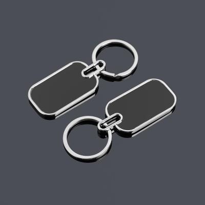 블랙 로고 키홀더 열쇠고리(사각)