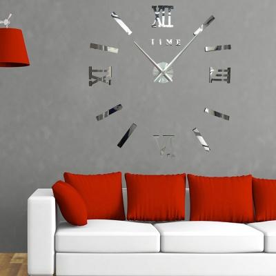 DIY 아트 로마숫자 붙이는 벽시계(실버)