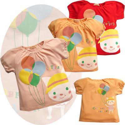 풍선과 고양이 티셔츠 3종 (6개월-4세) 201179