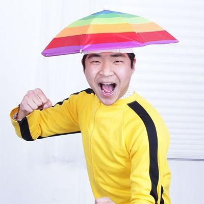 스투피드 우산모자 (레인보우)