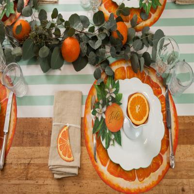 오렌지 슬라이스 종이 테이블매트 placemat