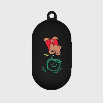 Doodle bear-black(buds jelly case)