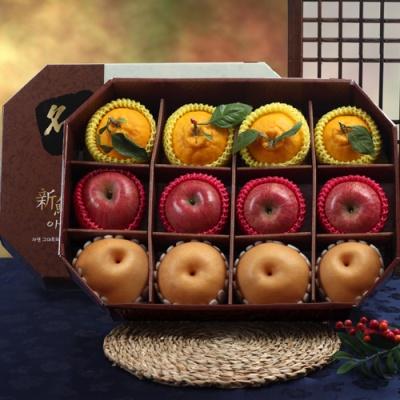 명품팔각 프리미엄 사과,배,한라봉 선물세트/5kg