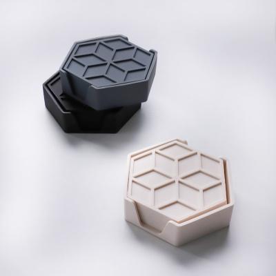 파엘 육각 실리콘 코스터 6p 세트 3color