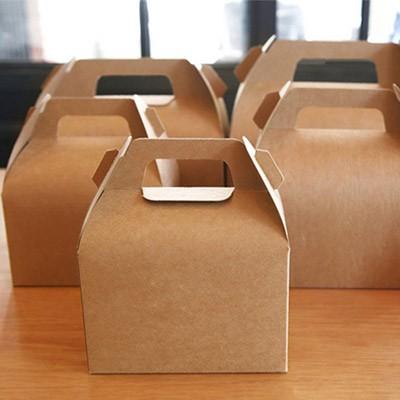 [대물량]조각케익 돌떡박스 크라프트 x 50개