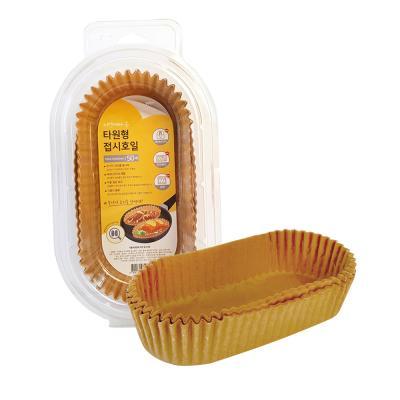 자연에서 온 타원형 접시 종이호일 (50매)